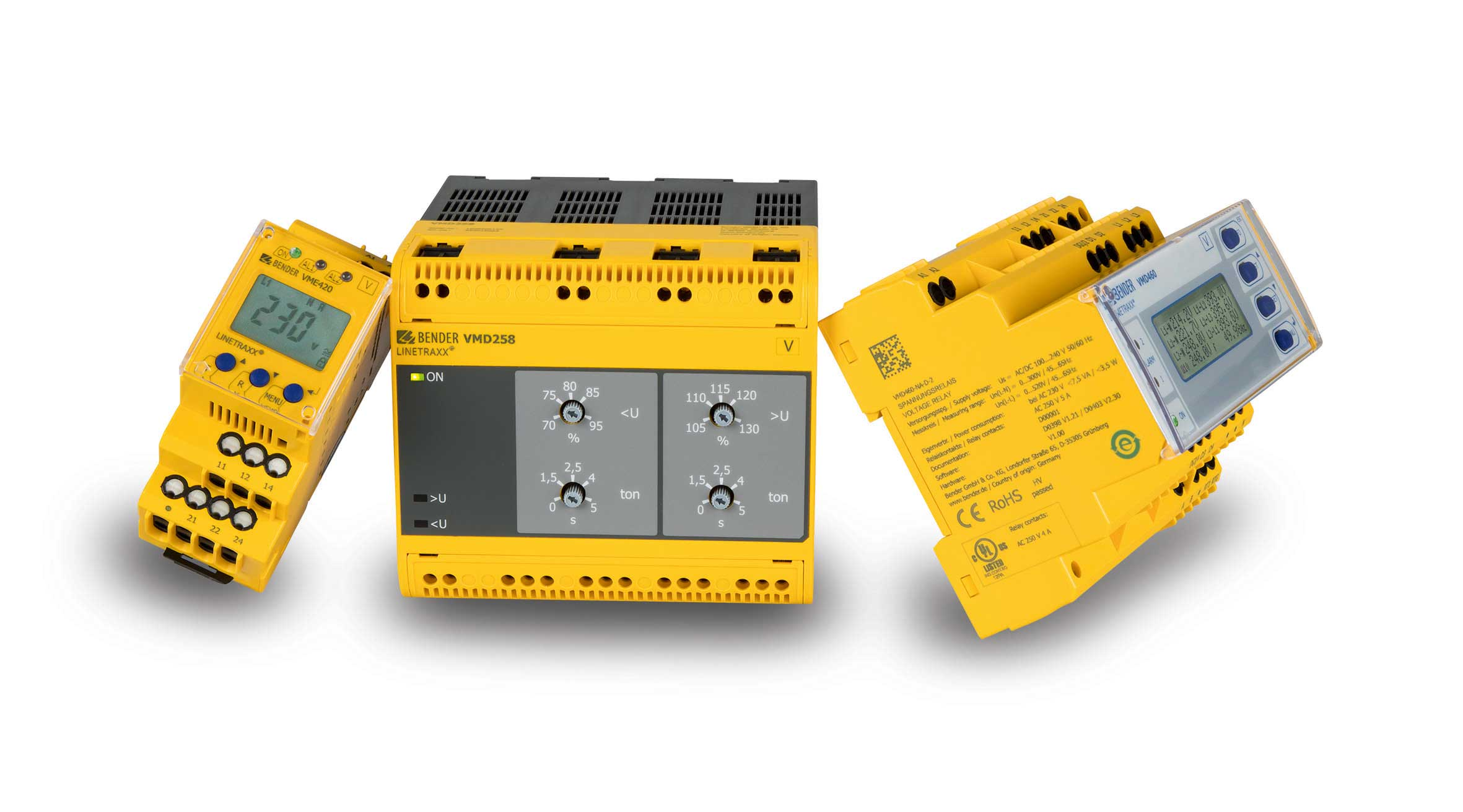 [Translate to italian:] Measuring and monitoring relays: current, voltage, frequency