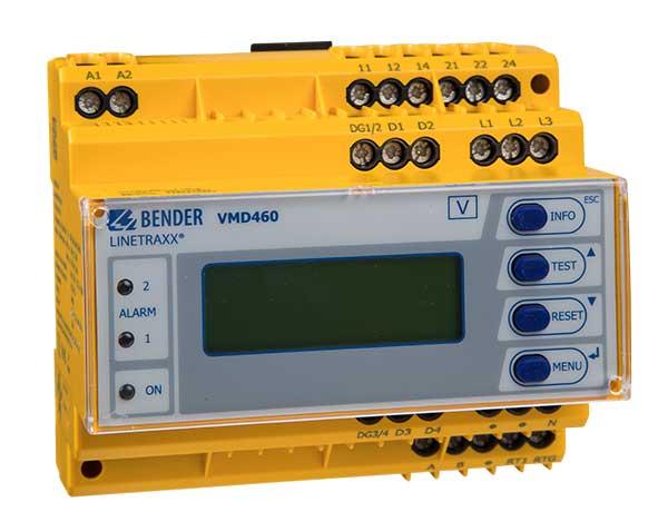 [Translate to italian:] [Translate to english:] VMD460 – der normkonforme Netz- und Anlagenschutz (Entkopplungsschutz) für Photovoltaikanlagen, BHKWs, Wind- und Wasserkraft